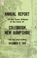 Colebrook New Hampshire annual report 1984