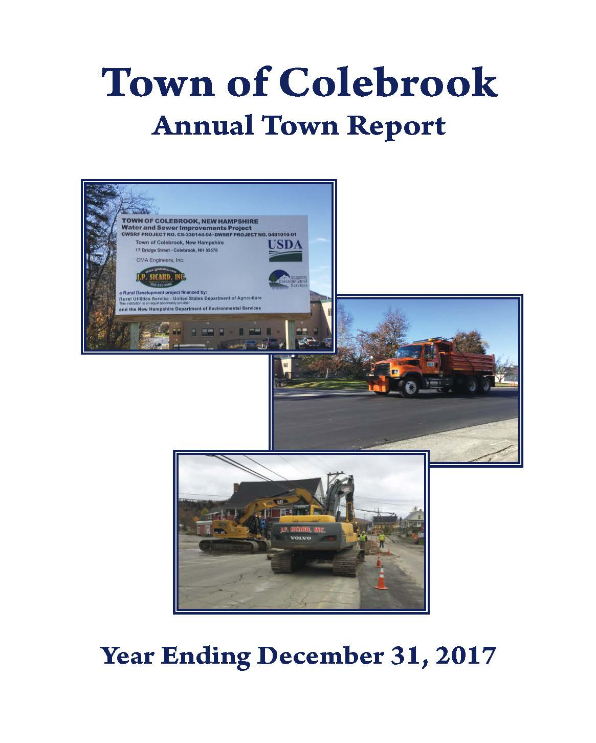 Town of Colebrook Cover 2017